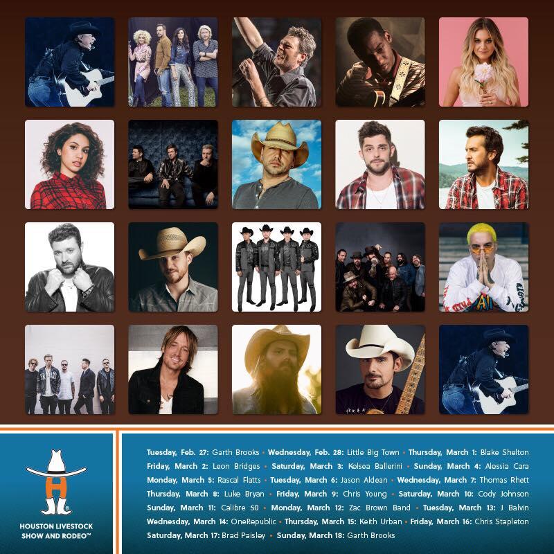 2fbdf598e Houston anuncia la lista de los artistas del Rodeo 2018