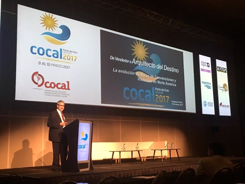 Jorge Pesquera, CEO Discover The Palm Beaches, at Cocal 2017 in Uruguay